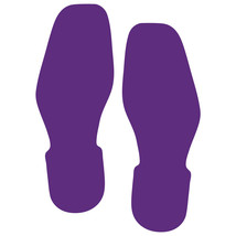 LiteMark Purple Removable Bootprint Decal Stickers - Pack of 12 - $19.95