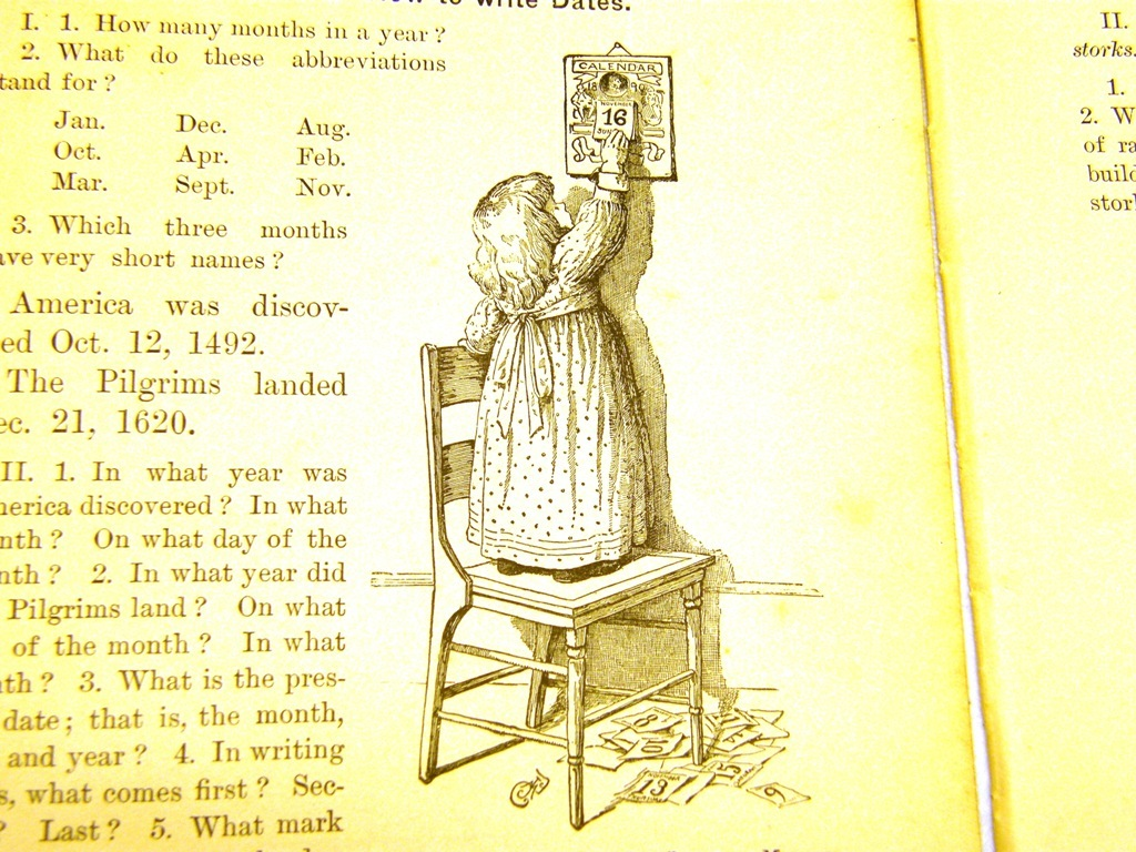 Antique illustrations set 1891 - girl, child, infant, toddle