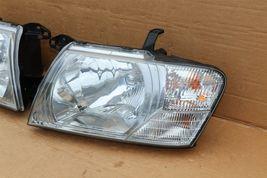 03-06 Mitsubishi Montero Limited Headlight Head Light Lamps Set L&R - POLISHED image 3