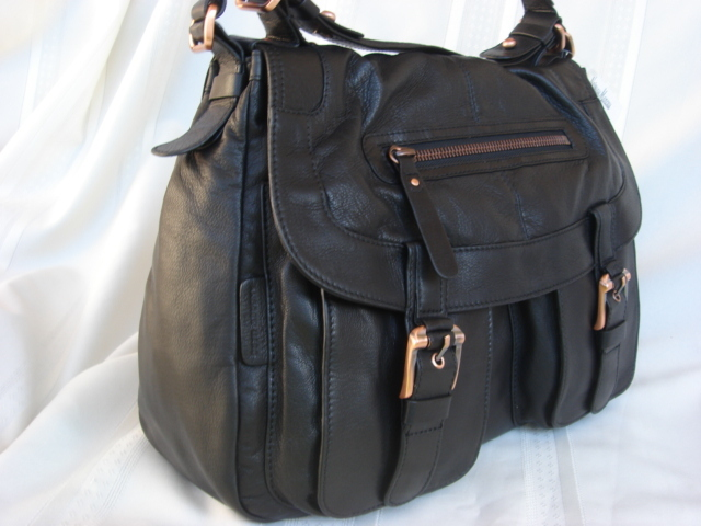 Andrew Marc Black Leather Talia