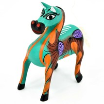 "Handmade Alebrijes Oaxacan Wood Carved Painted Folk Art Horse 3.5"" Figurine image 2"