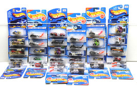 32 pc Hot Wheels Ford Die Cast Car Lot Big Chill+Go Kart 1994-2001 Mattel NOC - $60.76