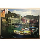 West of the Wind Boat In Vernazza-Outdoor Outdoor Canvas Art, 40W x 1.5D... - $46.75