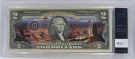 Grand Canyon National Park Colorized $2 Note Authenticated UNC PC-17 - $18.32
