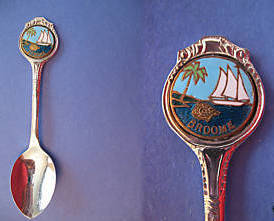 Primary image for BROOME Australia Souvenir Collector Spoon ENAMEL Australian SAILBOAT Collectible