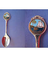 BROOME Australia Souvenir Collector Spoon ENAMEL Australian SAILBOAT Collectible - $6.95