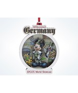 Disney Parks Epcot Mickey Germany Willkommen! Disc Ornament New with Tags - $13.21