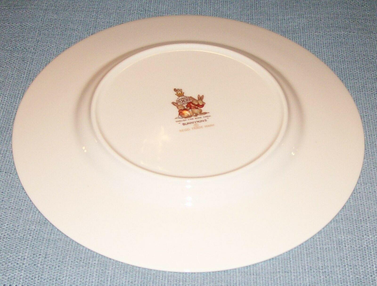 "Royal Doulton Bunnykins- 8"" Child Dinner Plate -Raft / Rafting Design SF111 -EUC image 4"