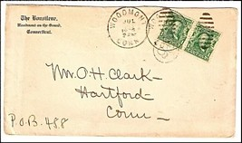 1904 Woodmont, CT Discontinued/Defunct Post Office (DPO) Postal Cover - $9.95