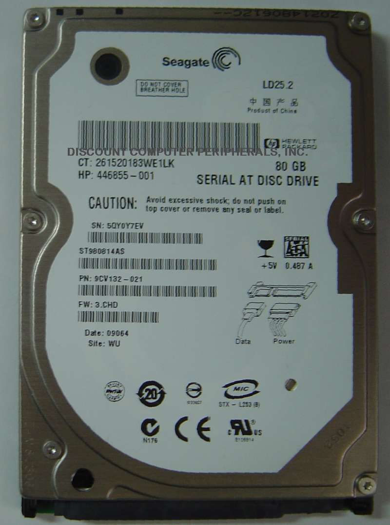 "80GB 2.5"" SATA Drive Seagate ST980814AS Tested Free USA Shipping Our Drives Work"