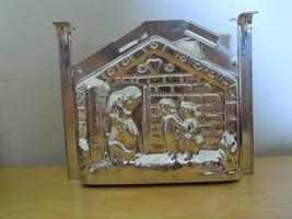 Antique Vtg Ges Gesch  GERMAN TIN CHOCOLATE CAKE MOLD MOULD HANSEL GRETE... - $49.99