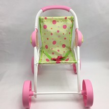 Cabbage Patch Kids Doll Stroller Play N Travel Pink Green White 2015 - $29.99