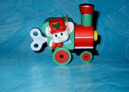Hallmark Ornament Vintage 1985 Engineering Mouse Train Engine Mint Condition - $9.89