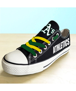 Oakland athletics shoes womens athletics sneakers baseball fashion canva... - $59.99+