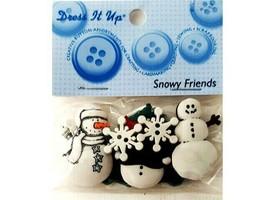 Dress It Up Snowy Friends Buttons, 6 Pieces, #951