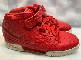 FILA High Top Logo Embossed Shoes Boys Size 4 Red 3FM00129-611 - $15.77