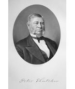 PETER THATCHER Ohio Railroad & Bridge Builder - SUPERB Portrait 1883 Print - $19.80