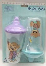 NEW Precious Moments baby Collection NO-SPILL Cups 2-Pack Kids Toddler 9... - $18.78