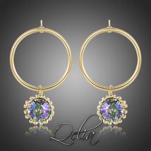Dangle Earrings Dating Daily Wear Shiny Purple Austrian Crystals Fashion... - $17.22