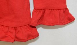Blanks Boutique Girls Red Long Sleeve Ruffle Tee Shirt Size 4T image 3