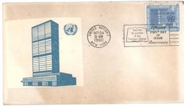 United Nations Fifteenth Anniversary First day cover, October 24, 1960 - $1.99