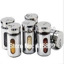 Stainless Steel Spice Sauce Seasoning Cruet Condiment Toothpick Storage ... - $45.85