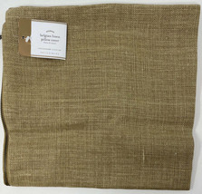 Pottery Barn Belgian Linen Flax Pillow Cover Straw 24 sq Farmhouse Beige... - $93.98