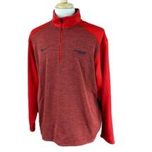 Nike Men's Dri Fit 1/4 Zip Mock Neck Pullover South Alabama Red Jacket XL - $24.74