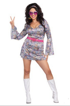 Adult 60s Love-Fest Hippie Costume - Plus - $29.95