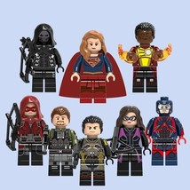 8 PCS/Set DC Comics SUPERGIRL & FRIENDS Minifigure Bricks Building Block... - $15.45