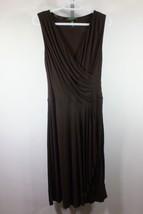 Ralph Lauren Draped Dress Sz Small S Brown V Neck Sleeveless  C53 - $26.15