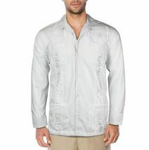 Men's Guayabera Cuban Wedding Button-Up Long Sleeve Dress Shirt w/ Defect - L
