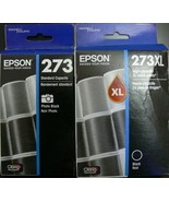 2 SEALED BLACK EPSON 273/273XL PHOTO 1 HIGH CAPACITY INK CARTRIDGE EXPIR... - $39.59