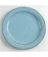 """Laurie Gates Valencia Teal Individual 11"""" Dinner Plate Terra Cotta Back ... - $37.39"""