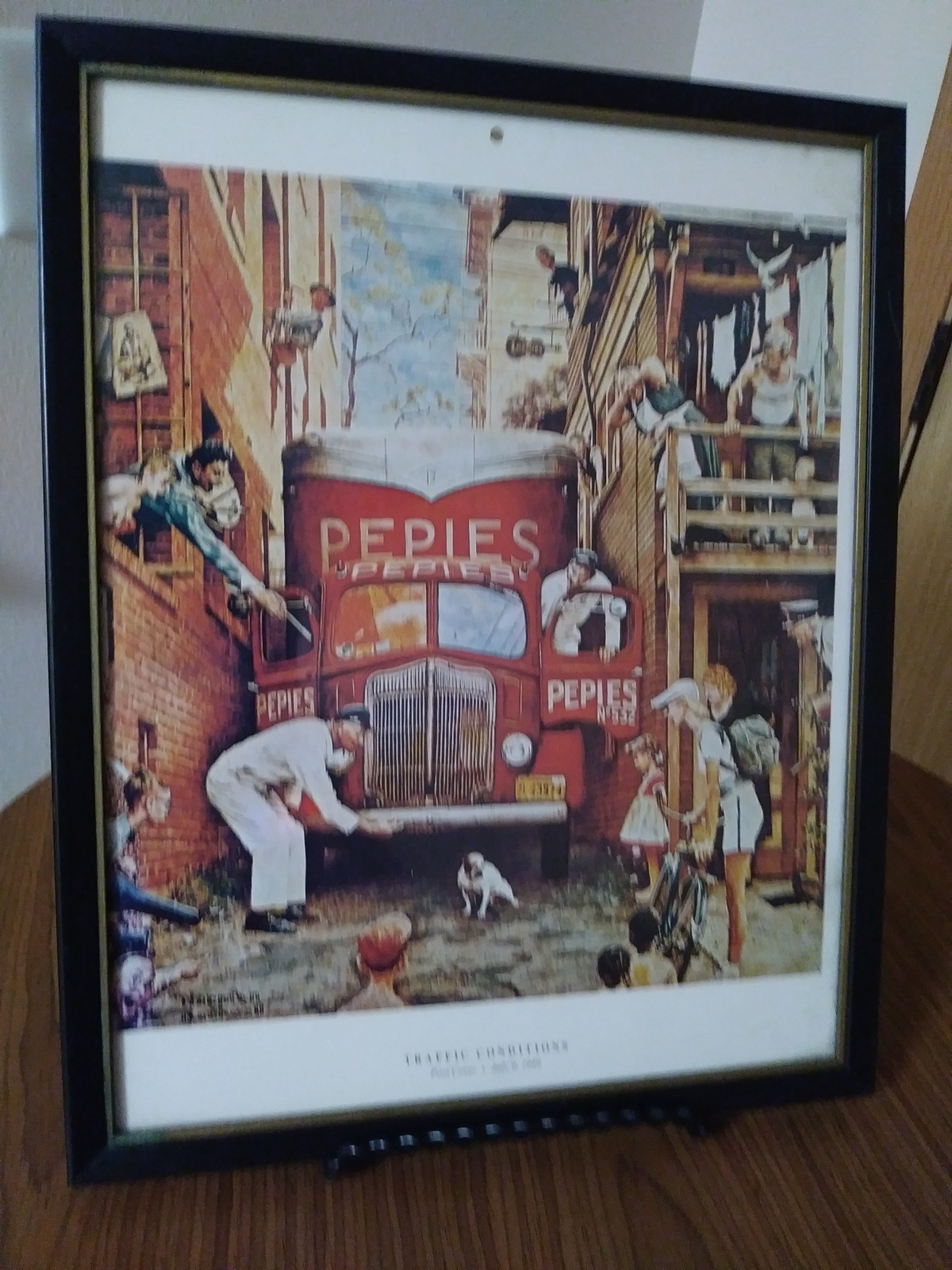 "Humor Art Print Norman Rockwell ""Traffic Conditions""  Post Cover July 9th 1949 C"