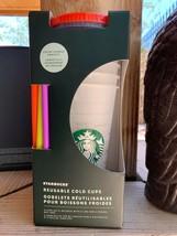 Brand New Starbucks 2021 Color Change Confetti Reusable Cold Cups 24 oz ... - $46.52