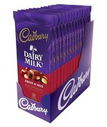 CADBURY Chocolate Candy Bar, Fruit and Nut, 3.5 Ounce Pack of 14 - $35.77