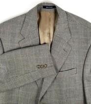 Chaps Ralph Lauren Sport Coat Size 42 Regular Black & Gray Glen Plaid Si... - $48.46