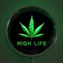 Round  Neon Light Sign High Life  Bar Pub Man Cave  - $44.99