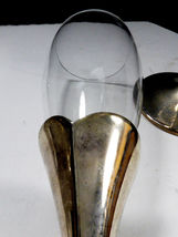 2 LENOX Crystal Champagne Flute Wedding Anniversary Silverplate Stems Heart image 4