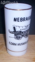 1960'S RETRO HAZEL ATLAS-- PLATONITE NEBRASKA SOUVENIR GLASS - $19.95