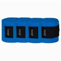 4 in Width Horze Horse Fleece Bandages Hook Loop Fasteners Orion Blue U-... - $29.69