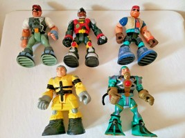 Mattel Rescue Heroes Action Figures Lot Of 5 Bill Barker Gil Gripper Tel... - $27.81