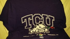 TCU Horned Frogs, Adult Small Cotton Short Sleeve 2011 Rose Bowl Commemo... - $5.99
