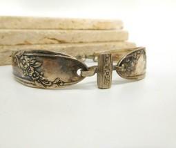 Vintage Silver Plated Victorian Flower Design Spoon Bracelet DD13 image 2