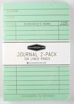 "Designworks Ink 2 Cloth Bound Personal 4"" x 6"" Mint/Blush Lined Journal Notebook image 2"