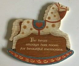 VTG 1987 Hallmark Plaque A touch oh County Rocking Horse Poem - $10.03