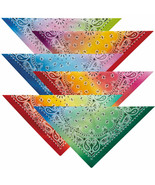 """Ombre Paisley Bandanas Classic Look Cotton 22"""" Choose From 6 Color Fade ... - $9.79+"""