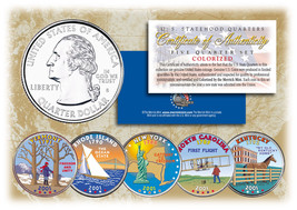 2001 US Statehood Quarters COLORIZED Legal Tender 5-Coin Complete Set w/... - $12.82