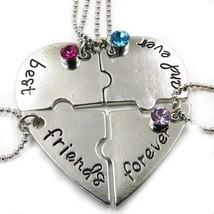 Best friends forever heart puzzle pendant necklace set(4PCS) - $34.25